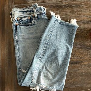 Levi's straight wedgie crop jeans